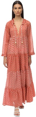 Yvonne S Cotton Voile Maxi Hippy Dress
