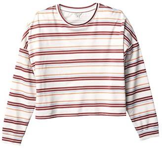 Habitual Oversized Crop Top (Big Kids) (Off-White) Girl's Clothing