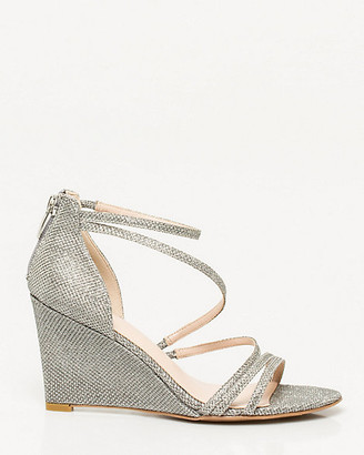 Le Château Glitter Mesh Strappy Wedge Sandal