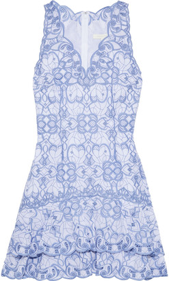 Jonathan Simkhai Tiered Broderie Anglaise Cotton Mini Dress
