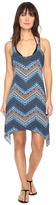 Lucky Brand Nomad Chevron Shark Bite Dress Cover-Up