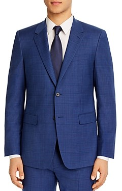 Theory Chambers Plaid Slim Fit Suit Jacket