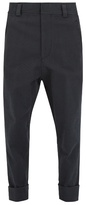 Haider Ackermann Low-rise hound's-tooth wool-blend trousers