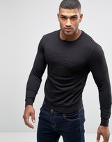 Armani Jeans Sweatshirt With Embossed Logo