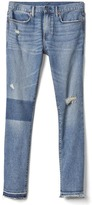 Gap STRETCH 1969 patched skinny fit jeans