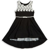 Iris & Ivy Girls 7-16 Jaquard and Lace Dress