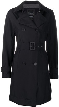 Herno Double Breasted Belted Trench Coat