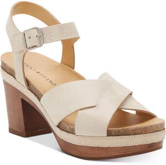Lucky Brand Harvia Platform Sandals Women Shoes