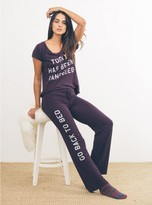 Junk Food Clothing Go Back To Bed Lounge Pants-blkra-xs