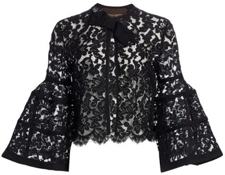 Carolina Herrera Icon Bell Sleeve Lace Bolero
