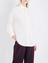 By Malene Birger Simmy pussybow woven blouse