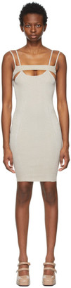 Isa Boulder SSENSE Exclusive Grey Bottle Short Dress