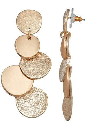 Dana Buchman Gold Tone Layered Linear Post Earrings