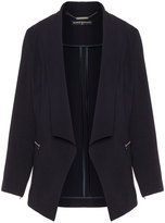 Manon Baptiste Plus Size Open front zip detail blazer
