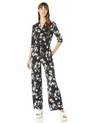 Calvin Klein Women's Long Sleeve Jumpsuit with Elastic Waist