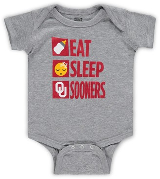Outerstuff Infant Heathered Gray Oklahoma Sooners Daily Agenda Creeper