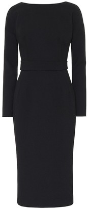 Dolce & Gabbana Wool-crepe midi dress