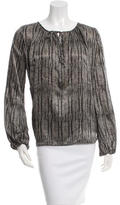 L'Agence Patterned Long Sleeve Blouse