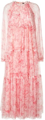 Needle & Thread Tiered Floral Print Dress
