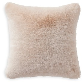 Waterford Belissa Faux Fur Square Pillow, 16 x 16