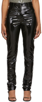Tibi Black Patent Skinny Trousers