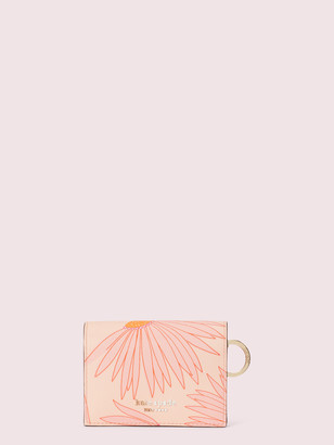 Kate Spade Spencer Falling Flower Mini Key Ring Wallet