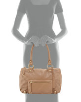 Linea Pelle LP by Dylan Perforated Leather Duffel Tote, Beige Nougat