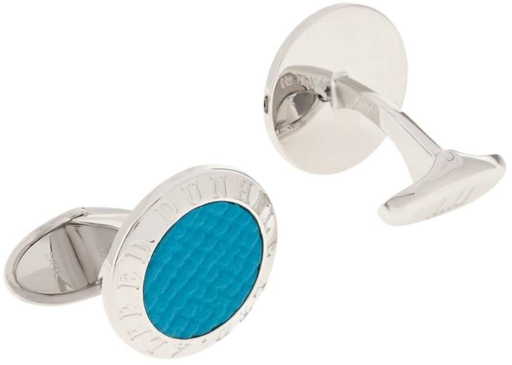 Dunhill Leather Centre Cufflinks