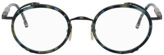 Thom Browne Navy Tortoiseshell TBX813 Glasses