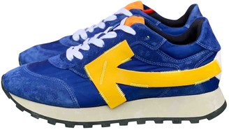 Off-White Running Blue Suede Trainers