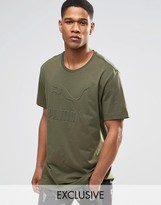 Puma Oversized T-Shirt In Khaki Exclusive To ASOS