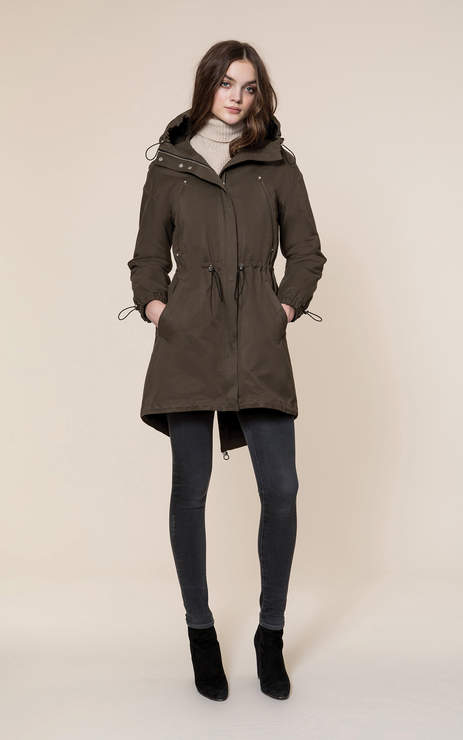 Soia & Kyo ENZA relaxed fit parka with removable quilted lining