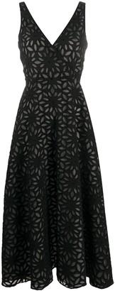 Harris Wharf London floral patterned midi dress