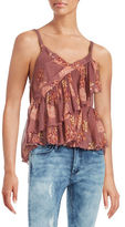 Free People Ruffled Floral Tank Top