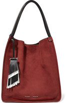 Proenza Schouler Tasseled Medium Leather-trimmed Suede Tote - Claret