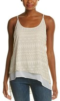 BCBGMAXAZRIA Burn-out Tank Top.