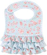 Mud Pie Rose Ruffled Bib