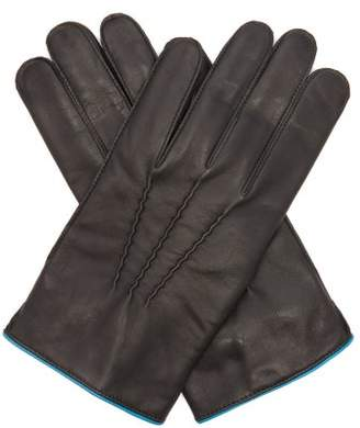 Dents Newport Contrast Strap Leather Gloves - Mens - Black