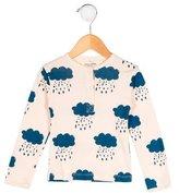 Bobo Choses Girls' Rain Cloud Long Sleeve Top w/ Tags
