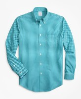 Brooks Brothers Non-Iron Regent Fit Double-Check Sport Shirt