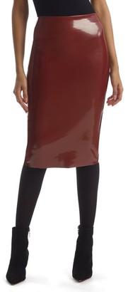 Commando Patent Midi Pencil Skirt