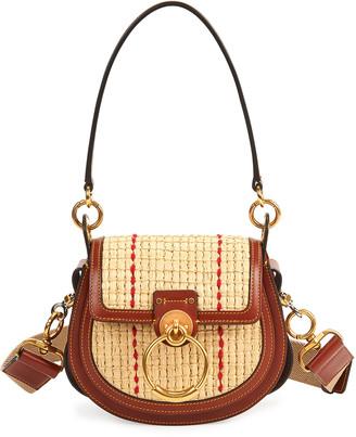 Chloé Tess Small Raffia Crossbody Bag