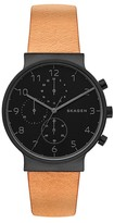 Skagen Men's Ancher Chronograph Leather Strap Watch