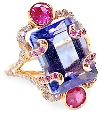 Sharon Khazzam Persepolis Ring 18K Rose Gold & Multi-Stone Ring