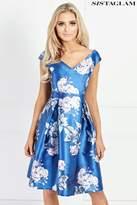 Next Womens Sistaglam Printed Prom Dress - Blue