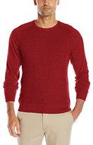 Izod Men's Saltwater Marled Waffle Crew Neck Sweater