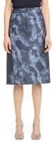 Tibi Rubberized Tie Dye Pencil Skirt