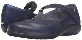 Naot Footwear Luga (Navy Reptile Leather/Polar Sea Leather/) Women's Shoes