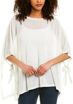 Eileen Fisher Linen-Blend Poncho