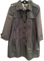 Burberry Grey Polyester Trench coat